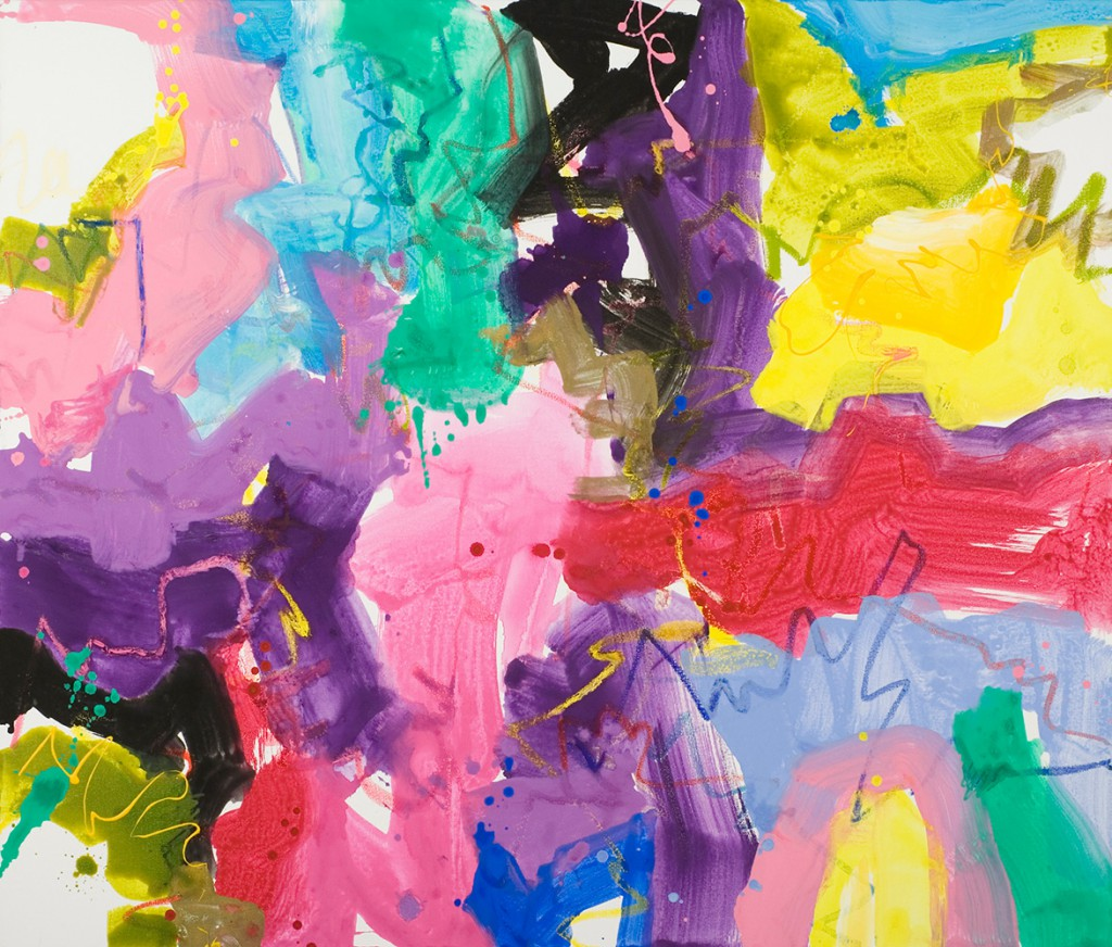Abstract Expressionist painting_Brightly colored action painting