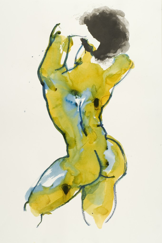 Nude painting of black girl_figure drawing